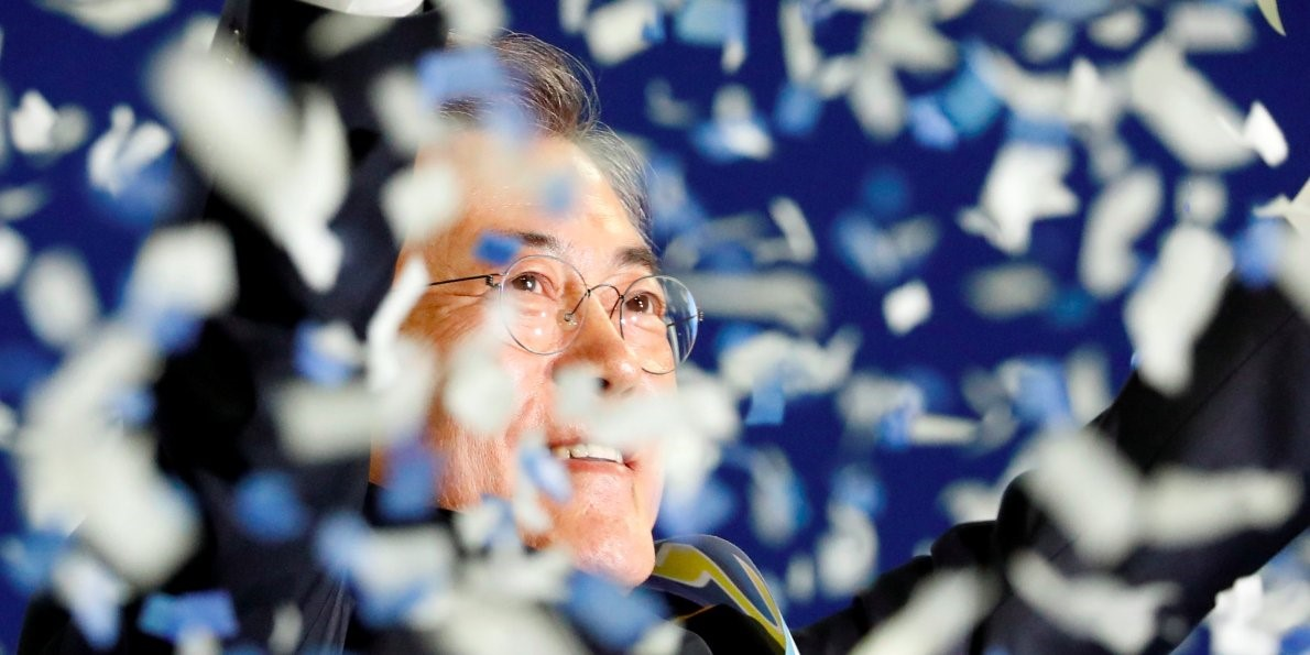 Image result for Moon Jae-in chaebol
